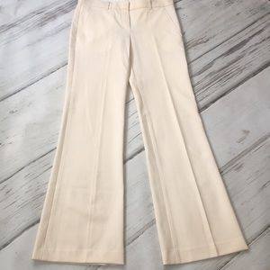Theory Wool Flare Pants Bootcut Cream Pockets 4